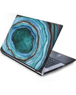 Turquoise Watercolor Geode Generic Laptop Skin
