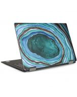 Turquoise Watercolor Geode Dell XPS Skin
