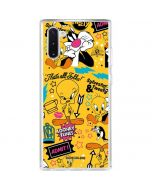 Tweety and Sylvester Patches Galaxy Note 10 Clear Case