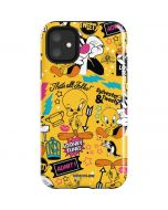 Tweety and Sylvester Patches iPhone 11 Impact Case