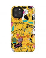Tweety and Sylvester Patches iPhone 11 Pro Impact Case