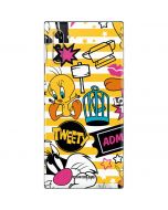 Tweety and Sylvester Striped Patches Galaxy Note 10 Skin