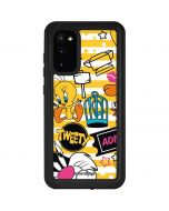 Tweety and Sylvester Striped Patches Galaxy S20 Waterproof Case