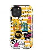 Tweety and Sylvester Striped Patches iPhone 11 Pro Impact Case