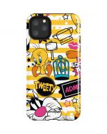 Tweety and Sylvester Striped Patches iPhone 11 Pro Max Impact Case