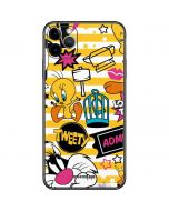 Tweety and Sylvester Striped Patches iPhone 11 Pro Max Skin