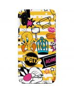 Tweety and Sylvester Striped Patches iPhone XR Lite Case