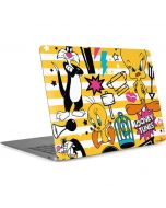 Tweety and Sylvester Striped Patches Apple MacBook Air Skin