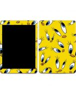 Tweety Bird Super Sized Pattern Apple iPad Skin