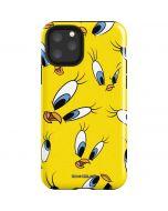 Tweety Bird Super Sized Pattern iPhone 11 Pro Impact Case