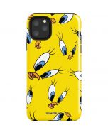 Tweety Bird Super Sized Pattern iPhone 11 Pro Max Impact Case