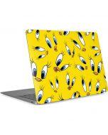 Tweety Bird Super Sized Pattern Apple MacBook Air Skin