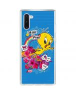 Tweety Bird Wild and Free Galaxy Note 10 Clear Case