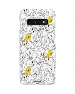Tweety Super Sized Pattern Galaxy S10 Plus Lite Case