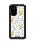 Tweety Super Sized Pattern Galaxy S20 Waterproof Case