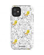 Tweety Super Sized Pattern iPhone 11 Impact Case
