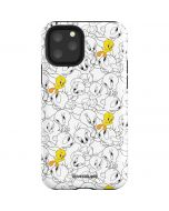 Tweety Super Sized Pattern iPhone 11 Pro Impact Case
