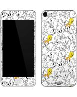Tweety Super Sized Pattern Apple iPod Skin