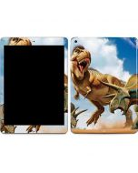Tyrannosaurus Rex Fighting with Two Triceratops Apple iPad Skin