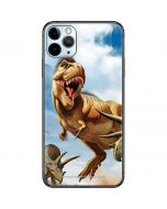 Tyrannosaurus Rex Fighting with Two Triceratops iPhone 11 Pro Max Skin