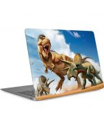 Tyrannosaurus Rex Fighting with Two Triceratops Apple MacBook Air Skin