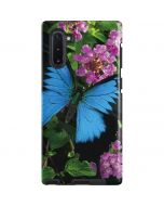 Ulysses Butterfly Lands On Pink Flowers Galaxy Note 10 Pro Case