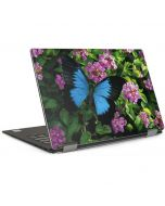 Ulysses Butterfly Lands On Pink Flowers Dell XPS Skin