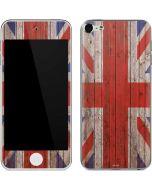 United Kingdom Flag Dark Wood Apple iPod Skin