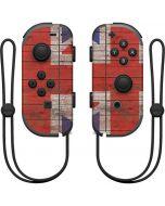 United Kingdom Flag Dark Wood Nintendo Joy-Con (L/R) Controller Skin