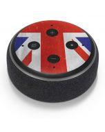 United Kingdom Flag Distressed Amazon Echo Dot Skin
