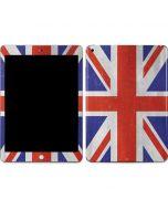 United Kingdom Flag Distressed Apple iPad Skin