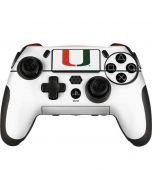 University of Miami White Split PlayStation Scuf Vantage 2 Controller Skin
