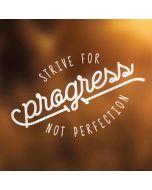 Strive For Progress Not Perfection Apple iPad Skin