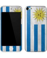 Uraguay Flag Distressed Apple iPod Skin
