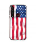 USA Flag Moto G8 Plus Clear Case