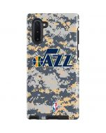 Utah Jazz Grey Digi Camo Galaxy Note 10 Pro Case