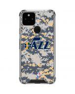 Utah Jazz Grey Digi Camo Google Pixel 5 Clear Case