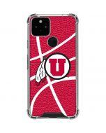 Utah Red Basketball Google Pixel 5 Clear Case