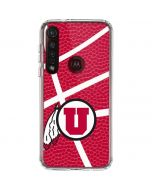 Utah Red Basketball Moto G8 Plus Clear Case