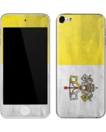 Vatican City Flag Distressed Apple iPod Skin