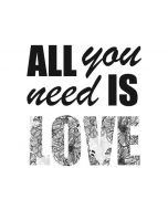 All You Need Is Love BW Apple iPad Skin