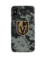 Vegas Golden Knights Camo iPhone XS Max Lite Case