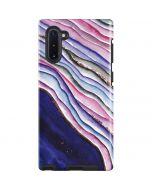 Violet Watercolor Geode Galaxy Note 10 Pro Case