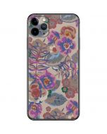 Warm Taupe Floral iPhone 11 Pro Max Skin
