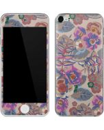 Warm Taupe Floral Apple iPod Skin