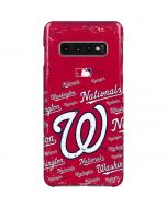 Washington Nationals - Cap Logo Blast Galaxy S10 Plus Lite Case
