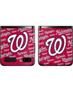 Washington Nationals - Cap Logo Blast Galaxy Z Flip Skin