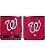 Washington Nationals - Solid Distressed Galaxy Z Flip Skin