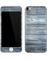 Weathered Blue Wood Apple iPod Skin