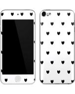 White and Black Hearts Apple iPod Skin